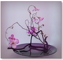 silk-flower-ikebana