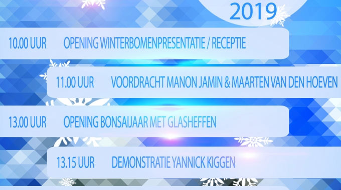 Veel nieuws – Winterbomenpresentatie – Nieuwjaarsreceptie