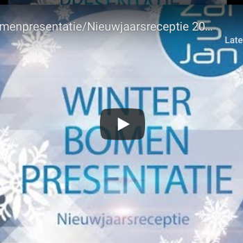 Video Winterbomenpresentatie/Nieuwjaarsreceptie 2019